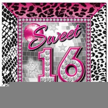 16e verjaardag servetten 25 x 25 cm