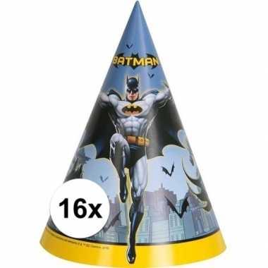 16x batman themafeest punthoedjes