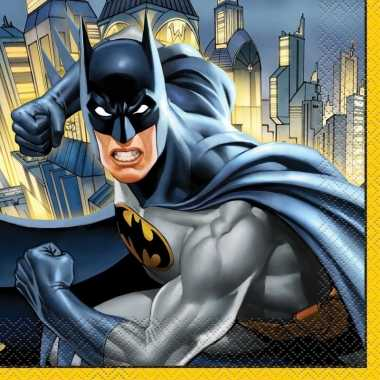 16x batman themafeest servetten 33 x 33 cm