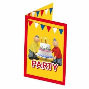 16x buurman en buurman themafeest uitnodigingen/kaarten