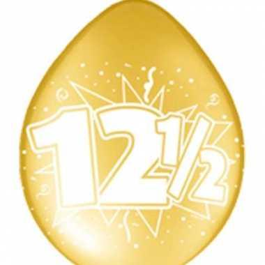 16x koperen jubileum ballon 12,5 jaar