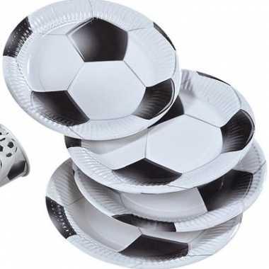 16x papieren bordjes voetbal print
