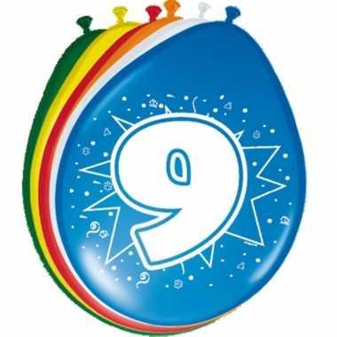 16x stuks ballonnen 9 jaar
