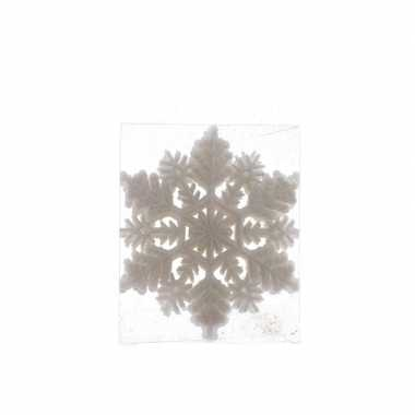 1x kerstversiering sneeuwvlok kersthanger wit 10 cm