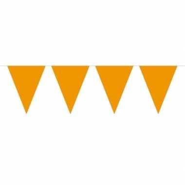 1x mini vlaggenlijn / slinger oranje 300 cm