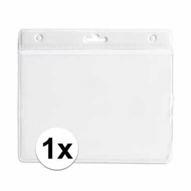 1x witte naamkaarthouder voor beurzen 11,2 x 58 cm