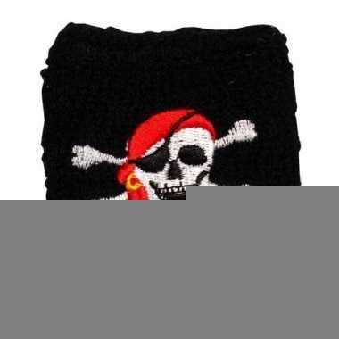 2 stuks piraten zweetbandje