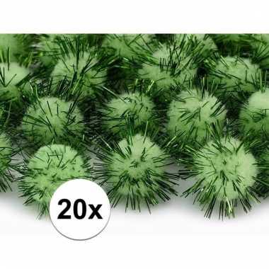 20 appel groene knutsel pompons 20 mm