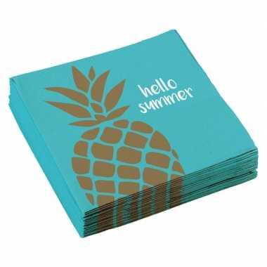 20x ananas servetten 33 x 33 cm