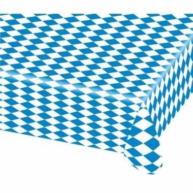 20x blauw met wit tafelkleden van 80x260 cm