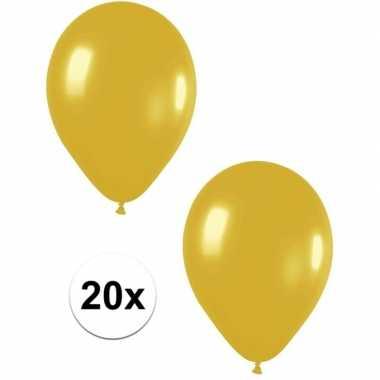 20x gouden metallic ballonnen 30 cm