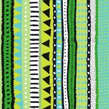20x groene servetten met motief 33 cm
