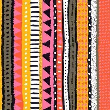 20x oranje/roze servetten met motief 33 cm