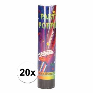 20x party poppers confetti 20 cm