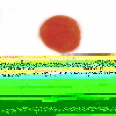 210x oranje knutsel pompons 7 mm trend