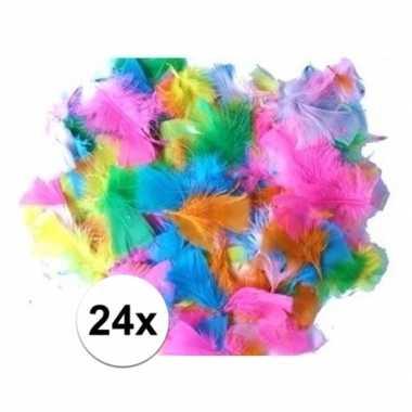 24 gekleurde pluimen