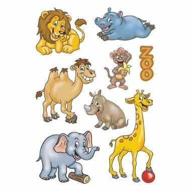 24x dierentuin dieren stickers