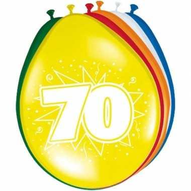 24x stuks ballonnen 70 jaar