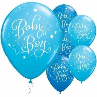 25x geboorte ballonnen jongen 28 cm