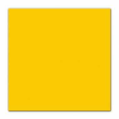 25x gele servetten 33 x 33 cm