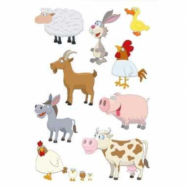 27x boerderij dieren stickers