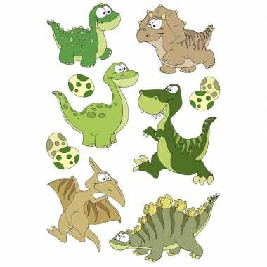 27x dinosaurus dieren stickers met 3d effect wiebeloogjes