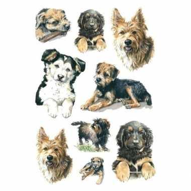 27x honden/puppy dieren stickers