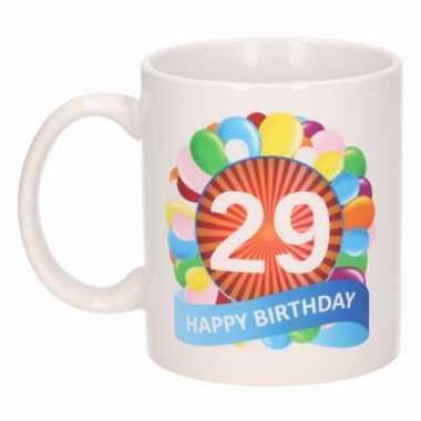29e verjaardag cadeau beker / mok 300 ml