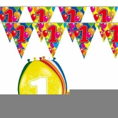 2x 1 jaar vlaggenlijn + ballonnen