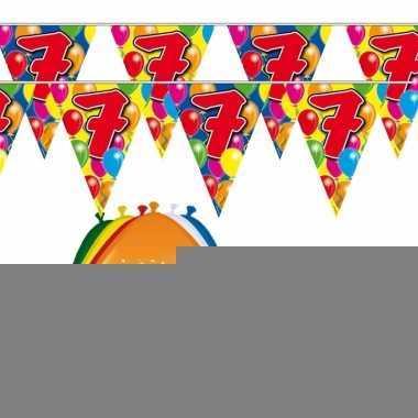 2x 7 jaar vlaggenlijn + ballonnen
