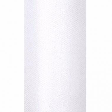 2x 9 meter glitter tule stof wit 15 cm breed