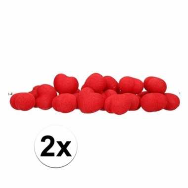 2x cotton balls rode hartjes lichtsnoer 5.28 meter