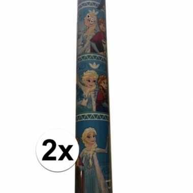 2x disney inpakpapier frozen anna/elsa 200 x 70 cm op rol