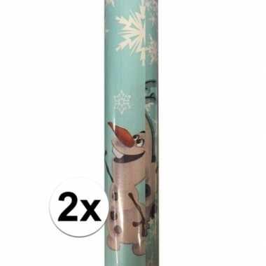 2x disney inpakpapier frozen olaf 200 x 70 cm op rol