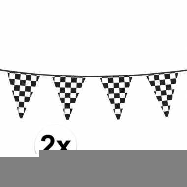 2x finish vlaggenlijn 6 meter