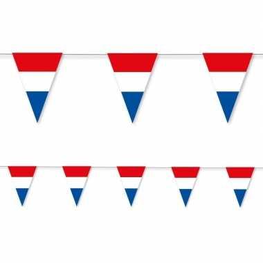 2x holland rood wit blauw vlaggenlijn papier 3,5 meter