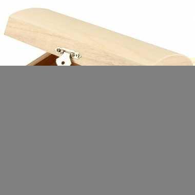 2x houten sieradendoos onbedrukt 16 cm