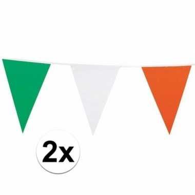 2x ierland versiering vlaggenlijn 7 m