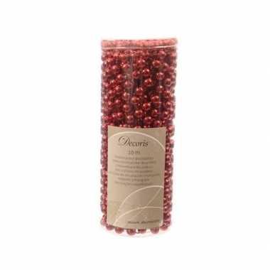 2x kerst kralenslinger rood 10 mtr