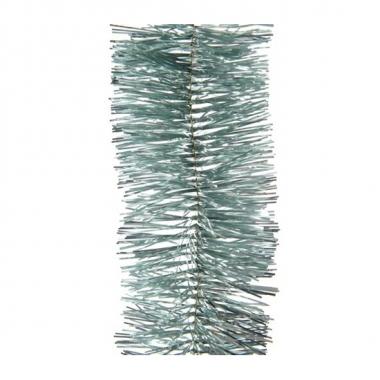 2x kerstboom folie slinger mintgroen 270 cm