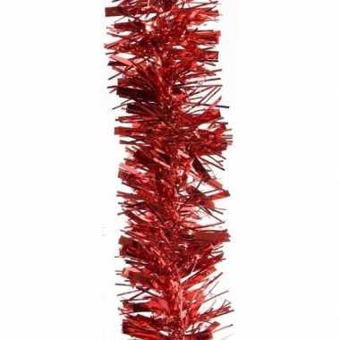 2x kerstboom folie slinger rood 200 cm