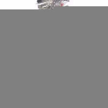 2x kerstboom folie slinger zilver 200 cm