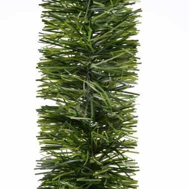 2x kerstslinger guirlande groen 270 cm