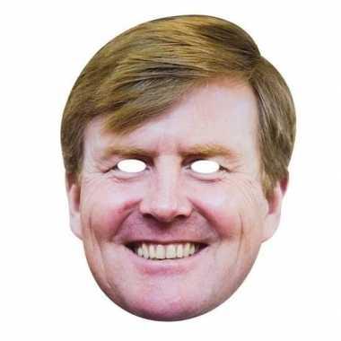 2x koning willem-alexander masker voor volwassenen