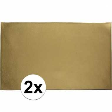 2x luxe gouden placemat 45 cm