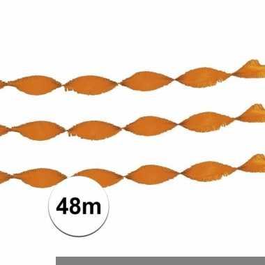 2x party slingers oranje 24 meter