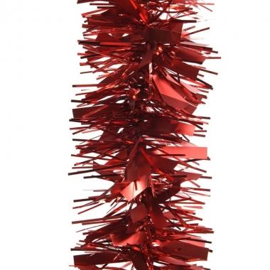 2x rode kerstversiering folie slinger mat/glans 270 cm