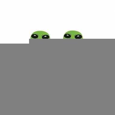 2x stuks opblaasbare groene aliens van 64 cm
