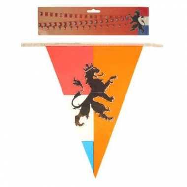 2x stuks retro vlaggenlijnen nederland/holland van 10 meter