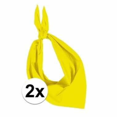 2x zakdoek bandana geel